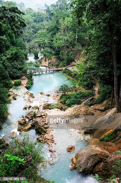 Laos, Luang Prabang, Kuang Si Falls area scenic