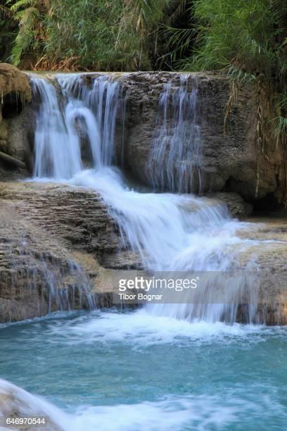 Laos, Luang Prabang, Kuang Si waterfalls,
