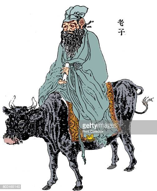 LaoTzu ancient Chinese philosopher and inspiration of Taoism late 19th century LaoTzu riding a buffalo This is the most popular depiction showing him...