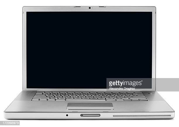 Lap top computer and a white surface
