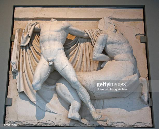 A Lapith fighting a Centaur Parthenon Frieze Athens