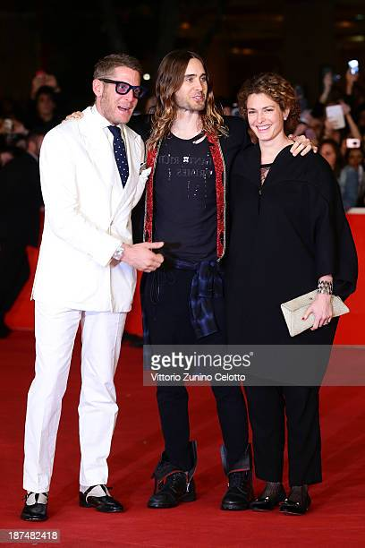 Lapo Elkann actor Jared Leto and Ginevra Elkann attends 'Dallas Buyers Club' Premiere And Vanity Fair Award during The 8th Rome Film Festival at...