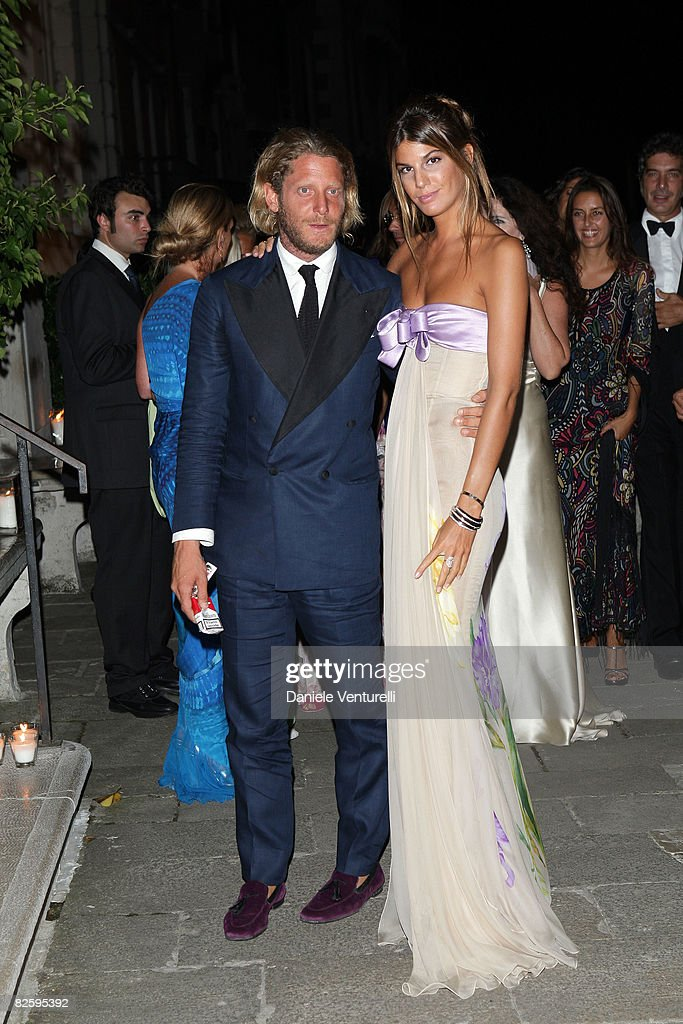 Lapo Elkann and Bianca Brandolini D'Adda attend the Valentino: The Last Emperor Party during the 65th Venice Film Festival held at the Peggy Guggenheim Museum on August 28, 2008 in Venice, Italy.