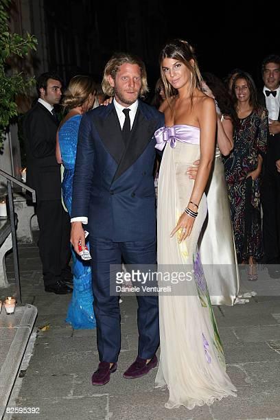 Lapo Elkann and Bianca Brandolini D'Adda attend the Valentino The Last Emperor Party during the 65th Venice Film Festival held at the Peggy...