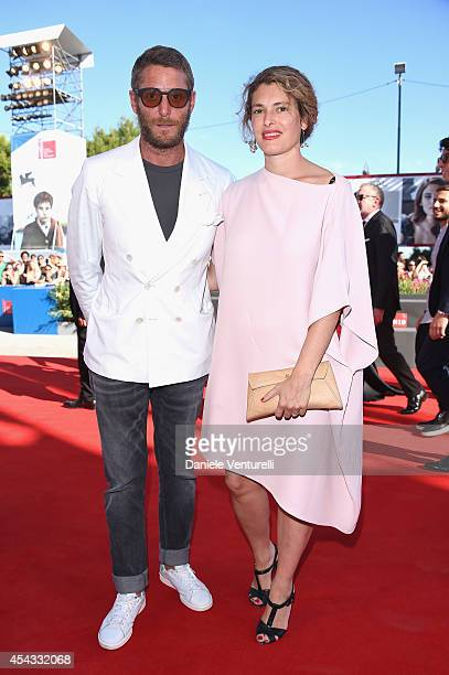 Lapo Elkann and Ginevra Elkann attend the 'Anime Nere' Premiere during the 71st Venice Film Festival at Sala Grande on August 29 2014 in Venice Italy