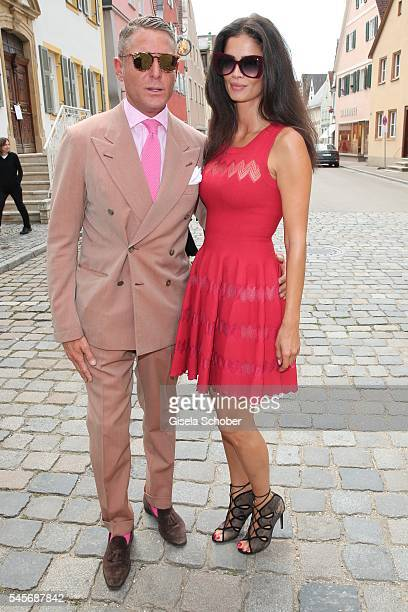 Lapo Elkann and his girlfriend Shermine Shahrivar during the wedding of hereditary Prince FranzAlbrecht zu OettingenSpielberg and Cleopatra von...
