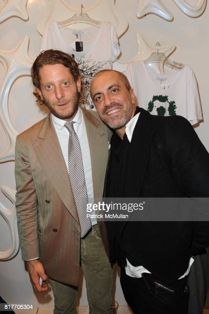 Lapo Elkann and Liborio Capisi attend Carlos Miele and Vogue Italia Celebrate Limited Edition of TShirts Designed by Lapo Elkann and Bianca...