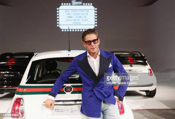 Lapo Elkann attends 500 by Gucci Short Film Collection cocktail party on April 16 2012 in Milan Italy