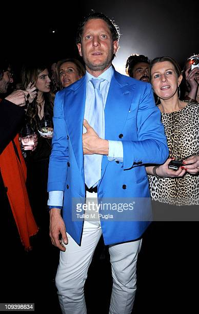 Lapo Elkann attends the 500 by Gucci launch party during the Milan fashion week womenswear Autumn/Winter 2011on February 23 2011 in Milan Italy