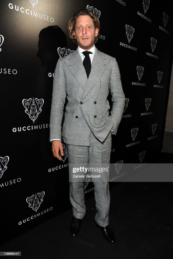 <a gi-track='captionPersonalityLinkClicked' href=/galleries/search?phrase=Lapo+Elkann&family=editorial&specificpeople=771607 ng-click='$event.stopPropagation()'>Lapo Elkann</a> attends the Gucci Museum opening on September 26, 2011 in Florence, Italy.