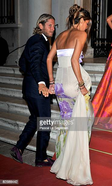 Lapo Elkann e Bianca Brandolini d'Adda attend the premiere of the movie 'Valentino The Last Emperor' held at Teatro La Fenice during the 65th Venice...