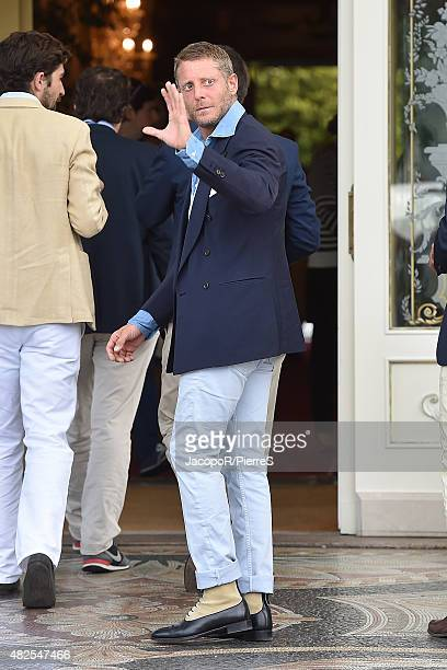 Lapo Elkann is seen on July 31 2015 in Stresa Italy