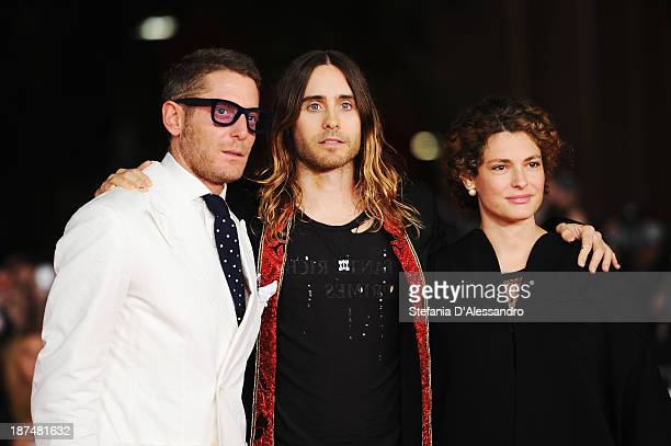Lapo Elkann Jared Leto and Ginevra Elkann attend 'Dallas Buyers Club' Premiere during The 8th Rome Film Festival on November 9 2013 in Rome Italy
