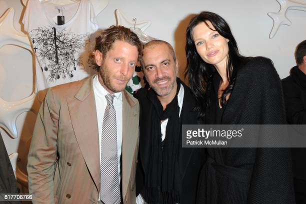 Lapo Elkann Liborio Capisi and attend Carlos Miele and Vogue Italia Celebrate Limited Edition of TShirts Designed by Lapo Elkann and Bianca...