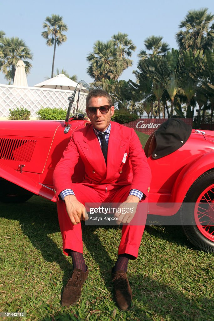 <a gi-track='captionPersonalityLinkClicked' href=/galleries/search?phrase=Lapo+Elkann&family=editorial&specificpeople=771607 ng-click='$event.stopPropagation()'>Lapo Elkann</a> poses during the Cartier 'Travel With Style' Concours 2013 at Taj Lands End on February 10, 2013 in Mumbai, India.