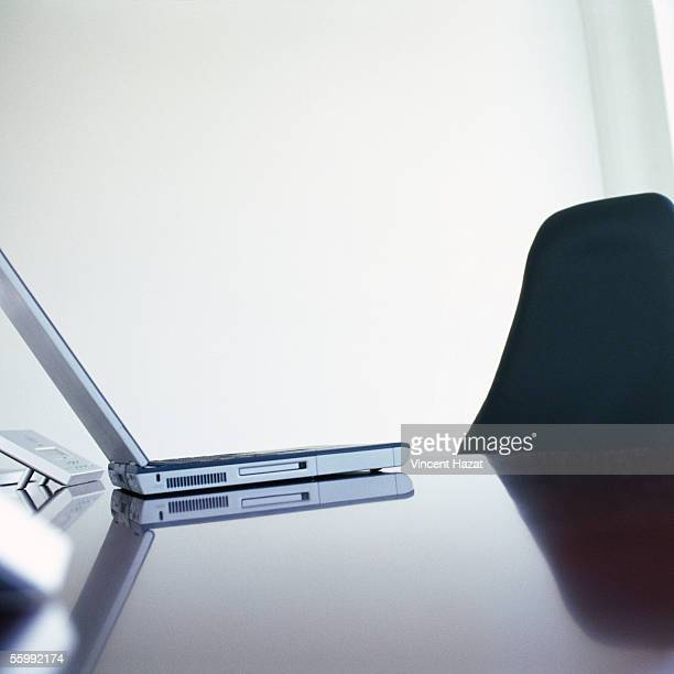 Laptop computer on desk