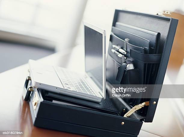 laptop in a briefcase