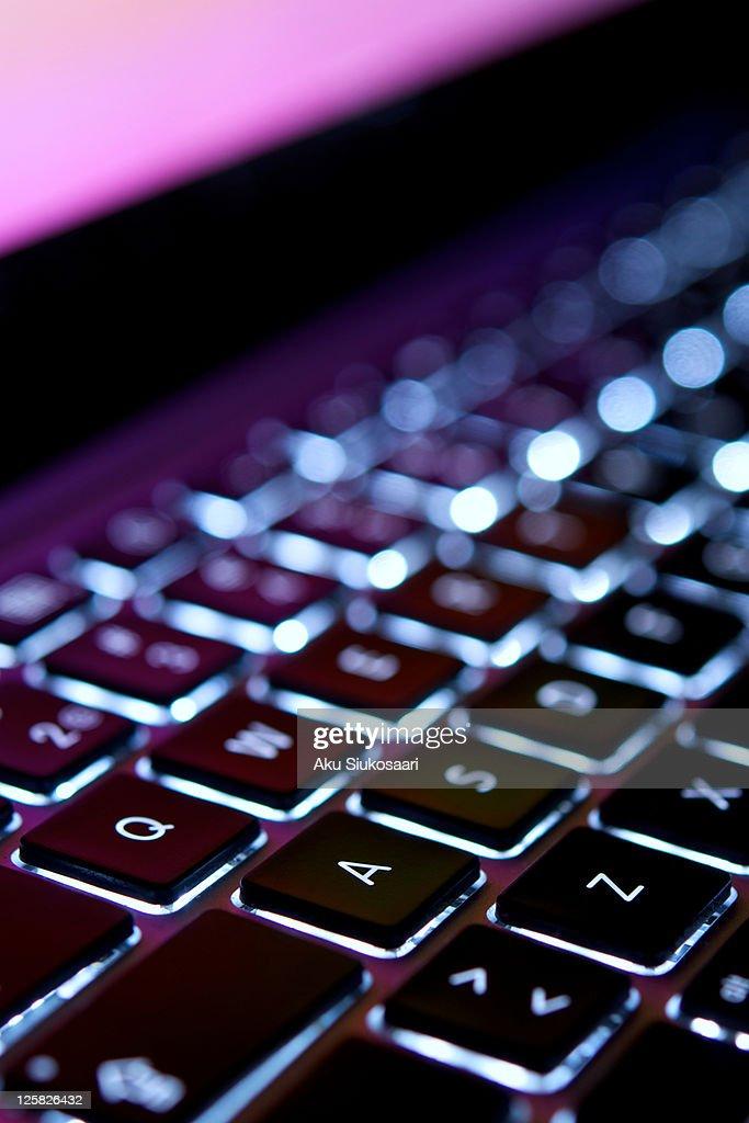 Laptop keyboard : Stock Photo