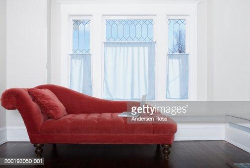 Laptop on chaise longue