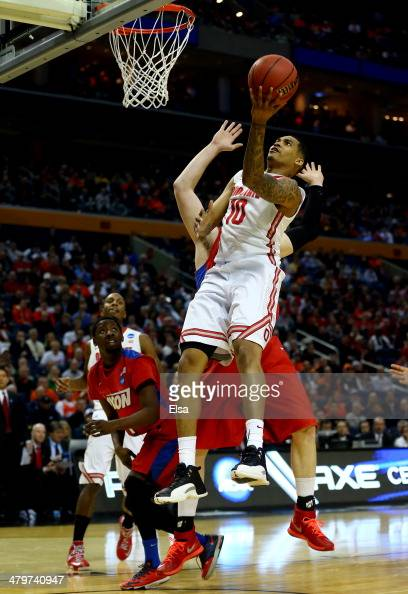 LaQuinton Ross of the Ohio State Buckeyes goes up for a shot against the Dayton Flyers during the second round of the 2014 NCAA Men's Basketball...