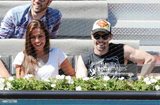 Lara Alvarez and Adrian Lastra attend Mutua Madrid Open on May 9 2014 in Madrid Spain