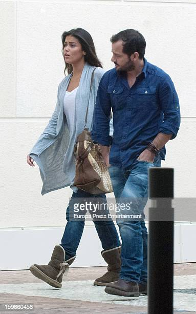Lara Alvarez and Angel Martin are seen on January 17 2013 in Madrid Spain