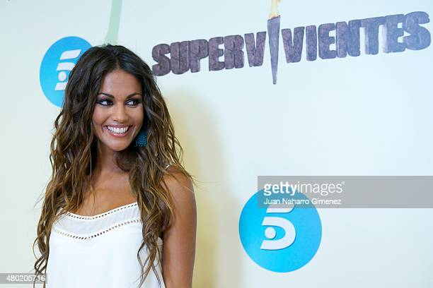 Lara Alvarez attends 'Supervivientes Honduras' photocall at Mediaset Espana on July 10 2015 in Madrid Spain