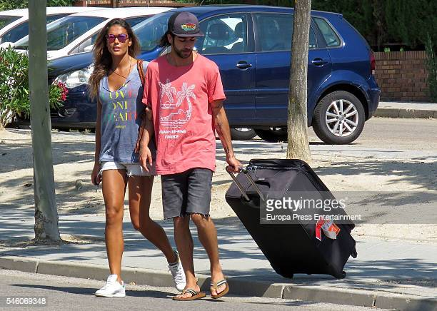Lara Alvarez is received by her brother Bosco Alvarez at Barajas airport on July 8 2016 in Madrid Spain