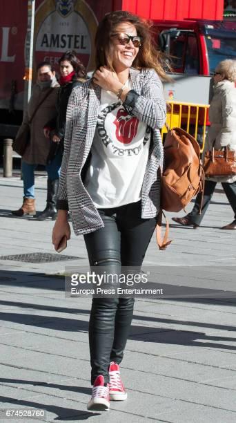 Lara Alvarez is seen on February 8 2017 in Madrid Spain