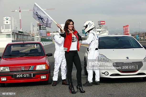 Lara Alvarez presents the new 'Peugeot 208 GTI' to celebrate it's 30th anniversary at Jarama racetrack on January 20 2015 in Madrid Spain