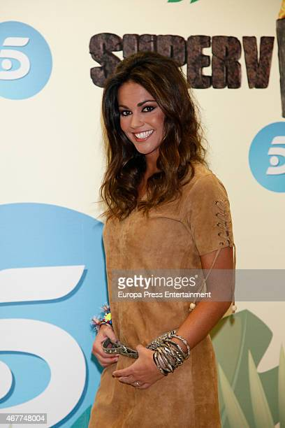 Lara Alvarez presents the reality show 'Supervivientes' at Tele5 studios on March 26 2015 in Madrid Spain