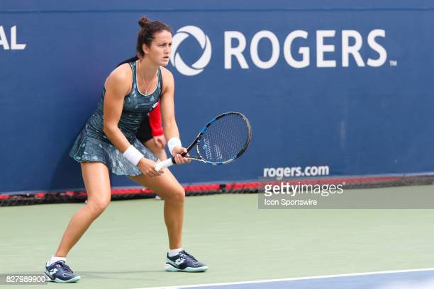 Lara Arruabarrena during the first round 2017 Rogers Cup tennis tournament on August 7 at Aviva Centre in Toronto ON Canada Gavrilova defeated...