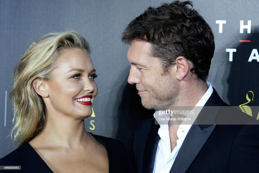<a gi-track='captionPersonalityLinkClicked' href=/galleries/search?phrase=Lara+Bingle&family=editorial&specificpeople=553554 ng-click='$event.stopPropagation()'>Lara Bingle</a> and <a gi-track='captionPersonalityLinkClicked' href=/galleries/search?phrase=Sam+Worthington&family=editorial&specificpeople=2594426 ng-click='$event.stopPropagation()'>Sam Worthington</a> arrives at the 3rd Annual AACTA Awards Ceremony at The Star on January 30, 2014 in Sydney, Australia.