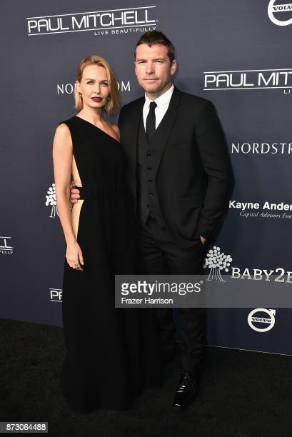 Lara Bingle and Sam Worthington attends the 2017 Baby2Baby Gala at 3LABS on November 11 2017 in Culver City California