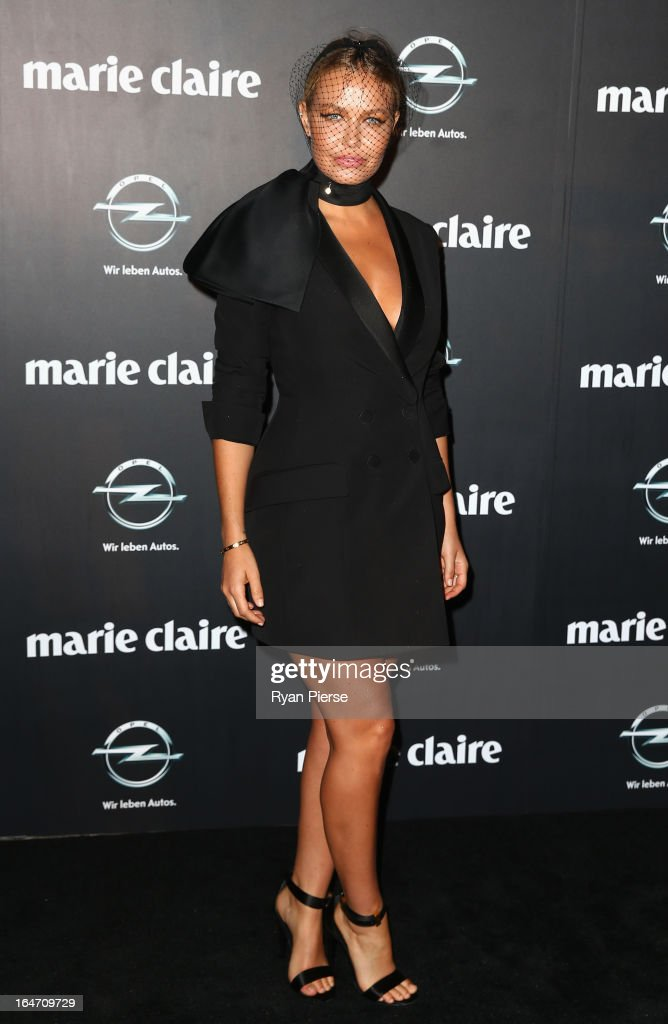 Lara Bingle arrives at the 2013 Prix de Marie Claire Awards at the Star on March 27, 2013 in Sydney, Australia.