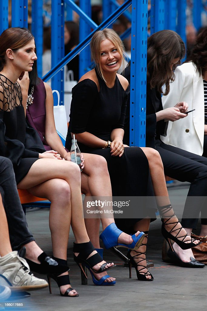 Lara Bingle attends the Christopher Esber show during Mercedes-Benz Fashion Week Australia Spring/Summer 2013/14 at 10 Carrington Rd, Marrickville, on April 8, 2013 in Sydney, Australia.