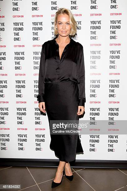 Lara Bingle attends the Cotton On launch of 'The One' at Cotton On Sydney City on July 8 2014 in Sydney Australia