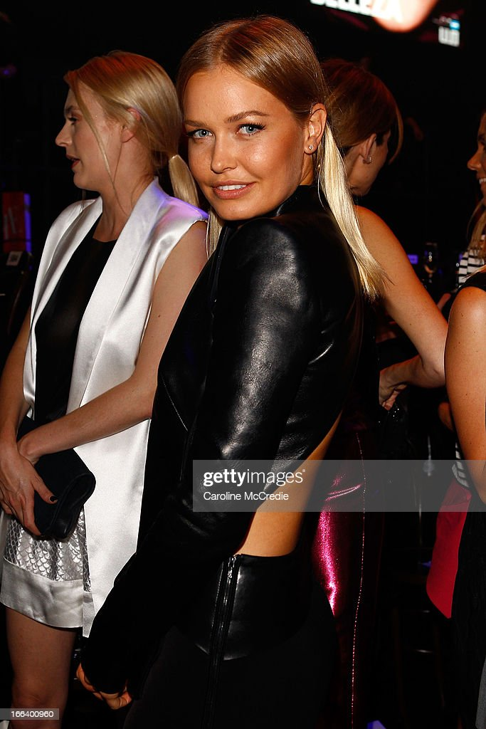 Lara Bingle attends the Hello Elle Australia show after party during Mercedes-Benz Fashion Week Australia Spring/Summer 2013/14 at Carriageworks on April 12, 2013 in Sydney, Australia.