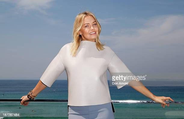Lara Bingle attends the launch of the Lara Bingle For Cotton On Body Collection at North Bondi Surf Lifesaving Club on November 8 2013 in Sydney...