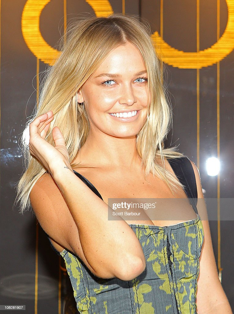 Lara Bingle attends the Louis Vuitton Crown Melbourne store opening on October 28, 2010 in Melbourne, Australia.