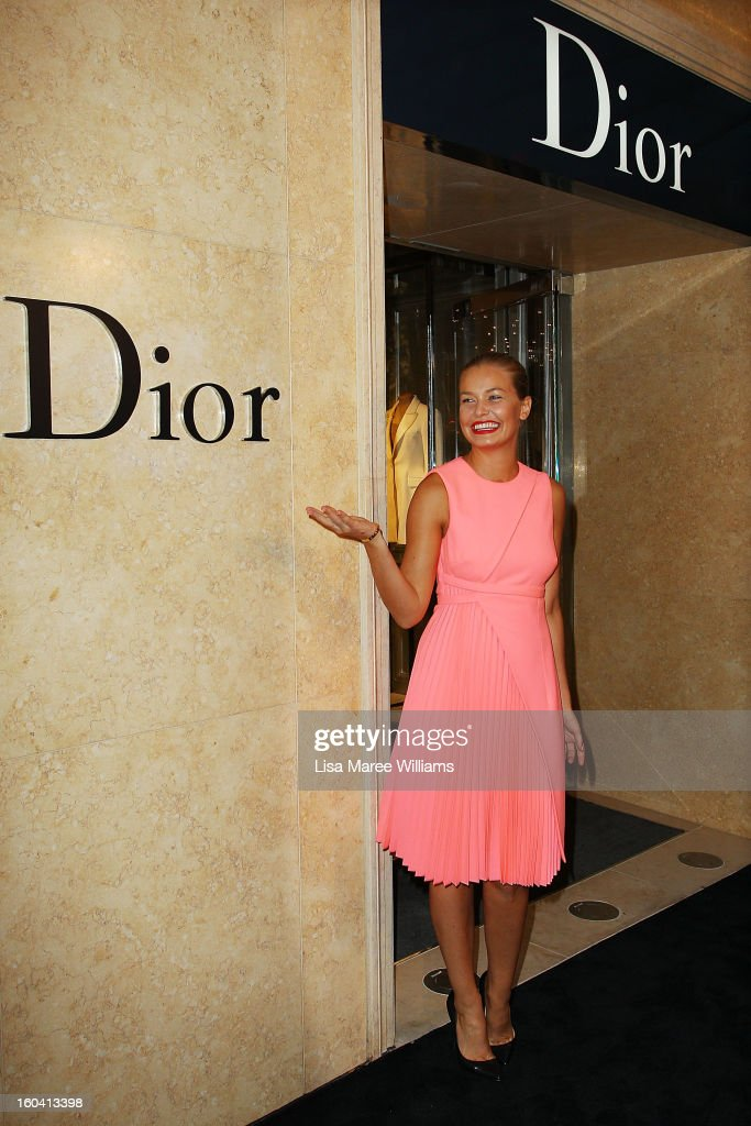 Lara Bingle attends the opening of the Christan Dior Sydney store on January 31, 2013 in Sydney, Australia.