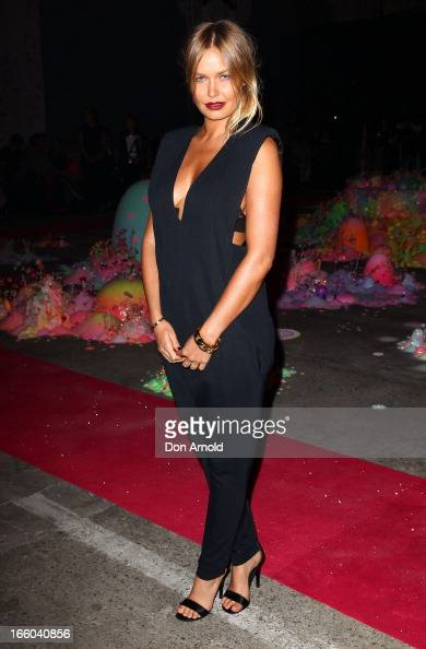 Lara Bingle attends the Romance was Born show during MercedesBenz Fashion Week Australia Spring/Summer 2013/14 at Carriageworks on April 8 2013 in...