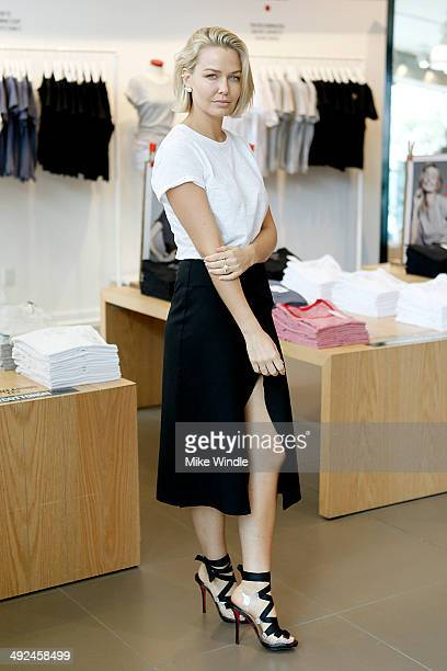Lara Bingle is seen on May 19 2014 shopping at the Cotton on USA store in Santa Monica California