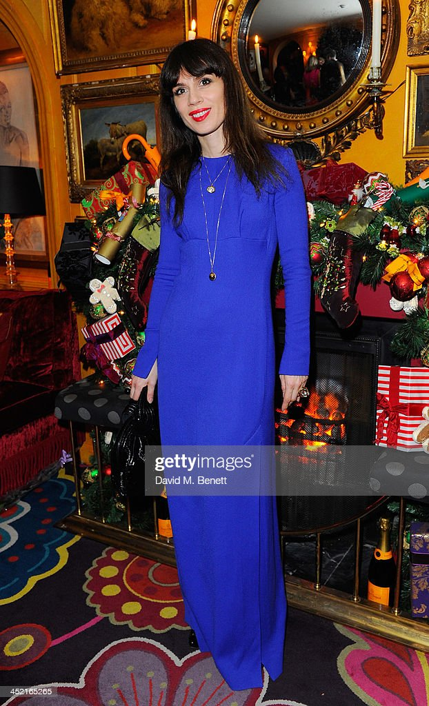 Lara Bohic attends Veuve Clicquot Style Party at Annabel's on November 26, 2013 in London, England.