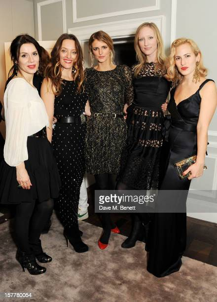 Lara Bohinc Alice Temperley Jacquetta Wheeler Jade Parfitt and Charlotte Dellal attend the launch of Temperley London's Mayfair flagship store on...