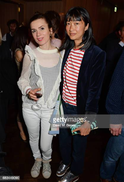 Lara Bohinc and Mimi Xu attend '8 Years Of My Life' an intimate evening of music with Rosey Chan hosted by Rosey Chan and Client Earth at Cafe Royal...