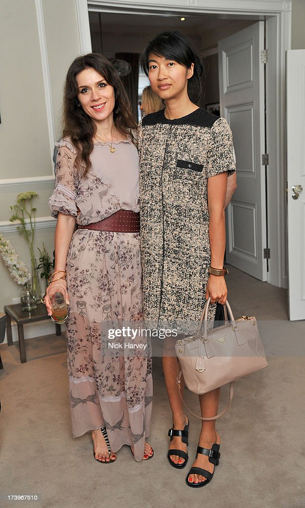 Lara Bohinc and Mimi Xu attend MATCHESFASHION.COM Partners With Rika On 'Iron Girl' Project For Rika Magazine on July 18, 2013 in London, England.