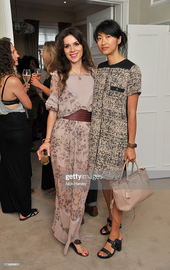 Lara Bohinc and Mimi Xui (R) attend MATCHESFASHION.COM Partners With Rika On 'Iron Girl' Project For Rika Magazine on July 18, 2013 in London, England.