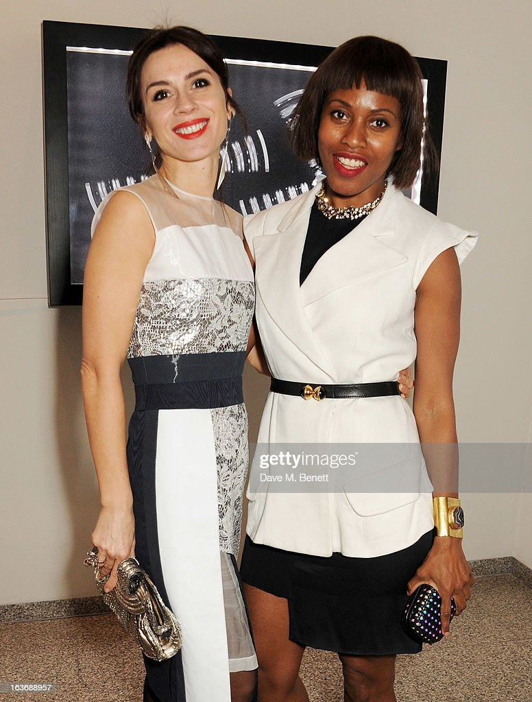Lara Bohinc (L) and Susan Bender attend the Swarovski Whitechapel Gallery Art Plus Fashion fundraising gala in support of the gallery's education fund at The Whitechapel Gallery on March 14, 2013 in London, England.