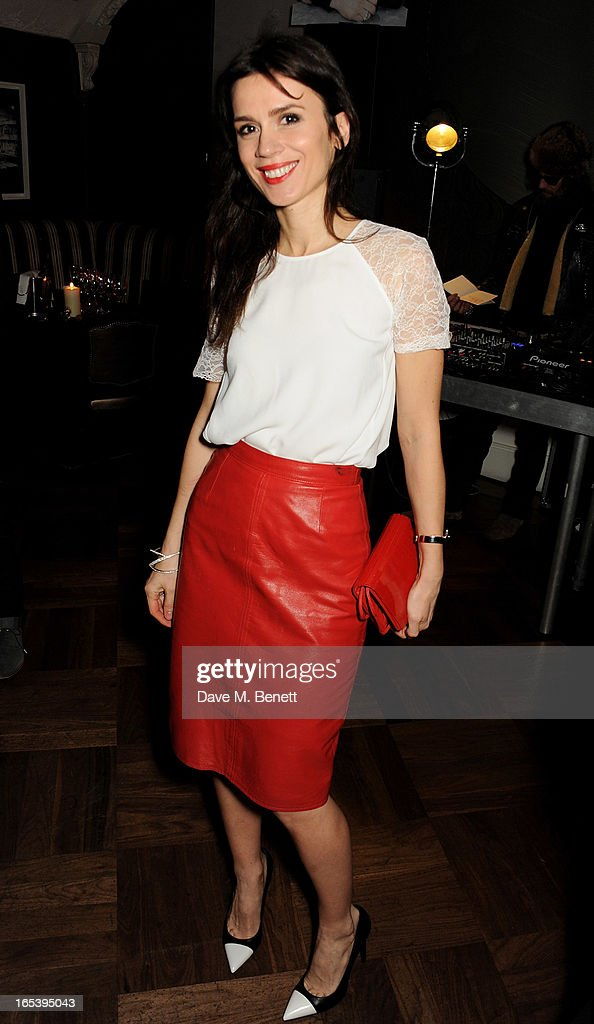 Lara Bohinc attends event planner Paul Rowe's 40th birthday party at The Groucho Club on April 3, 2013 in London, England.
